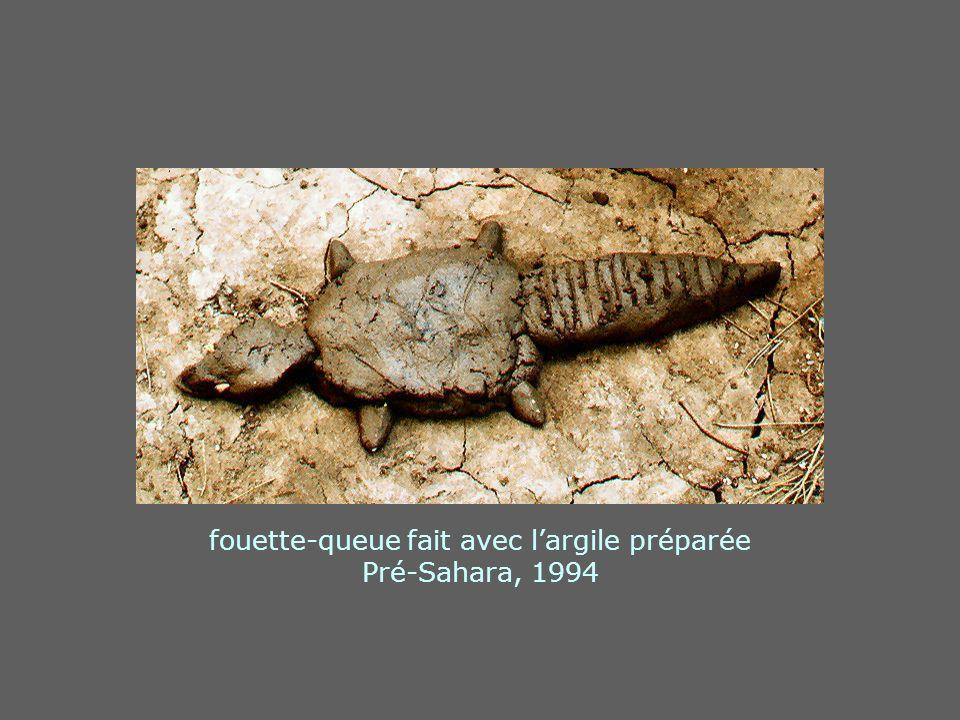 fouette-queue fait avec largile préparée Pré-Sahara, 1994