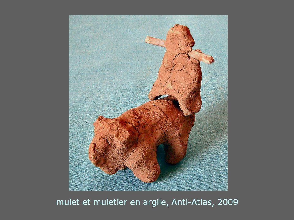 mulet et muletier en argile, Anti-Atlas, 2009