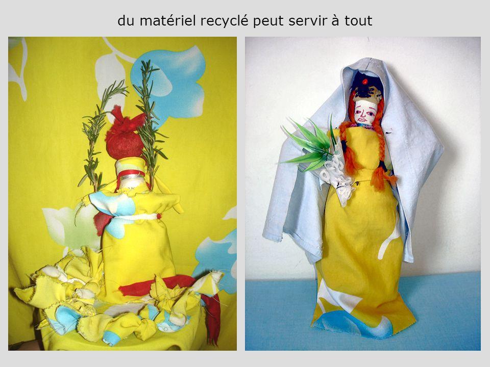 du matériel recyclé peut servir à tout