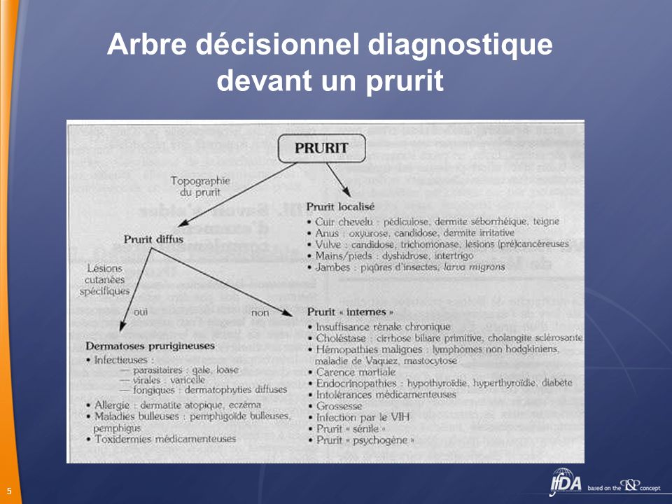 5 Arbre décisionnel diagnostique devant un prurit