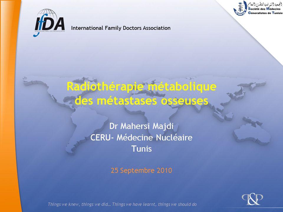12 Quadramet : Indications Traitement antalgique des métastases osseuses douloureuses multiples.