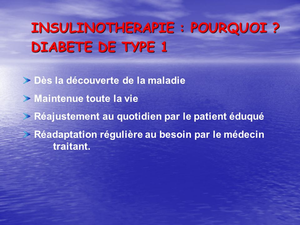 INSULINOTHERAPIE : COMMENT ? Initiation Titration Intensification