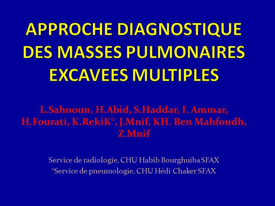 L.Sahnoun, H.Abid, S.Haddar, I. Ammar, H.Fourati, K.RekiK°, J.Mnif, KH. Ben Mahfoudh, Z.Mnif Service de radiologie, CHU Habib Bourghuiba SFAX °Service