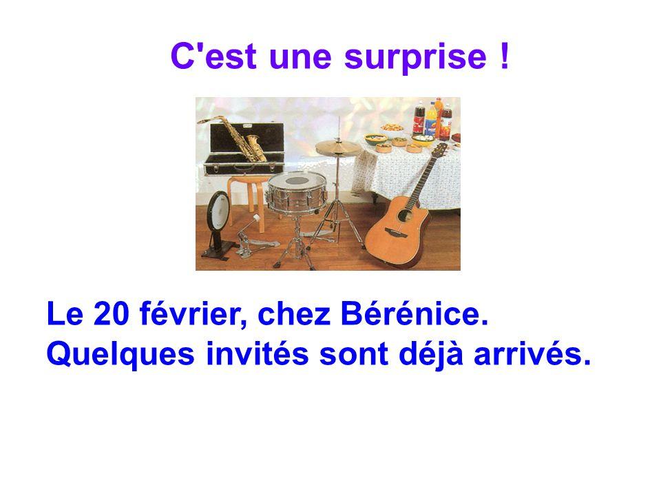 C'est une surprise ! Le 20 février, chez Bérénice. Quelques invités sont déjà arrivés.