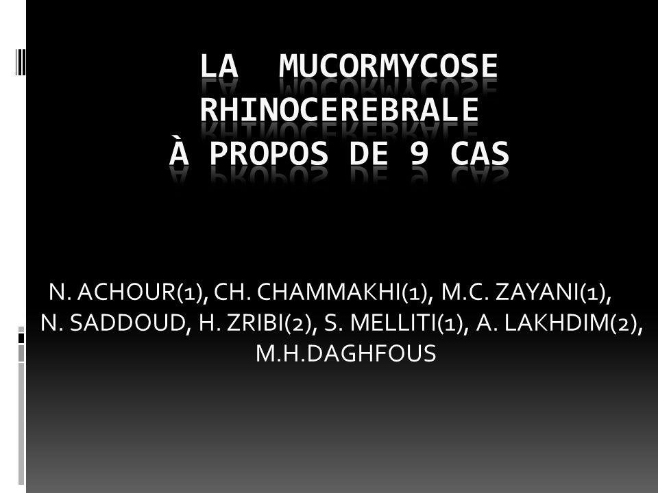 N. ACHOUR(1), CH. CHAMMAKHI(1), M.C. ZAYANI(1), N. SADDOUD, H. ZRIBI(2), S. MELLITI(1), A. LAKHDIM(2), M.H.DAGHFOUS