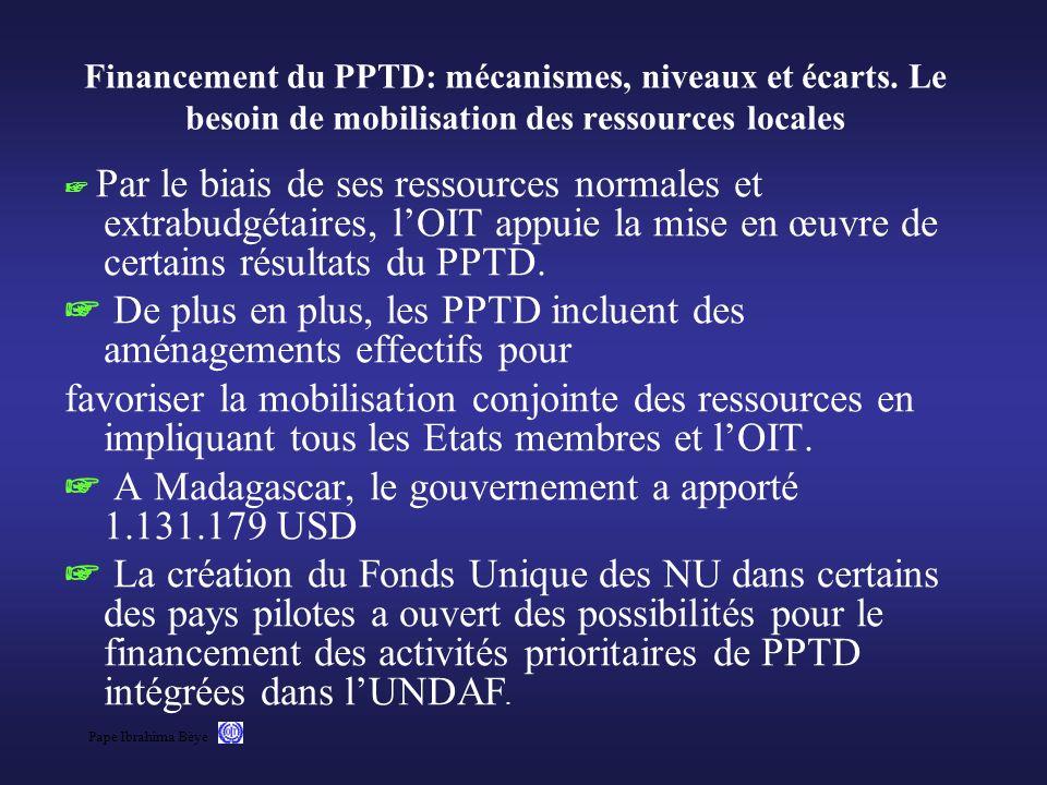 Pape Ibrahima Bèye Financement du PPTD: mécanismes, niveaux et écarts. Le besoin de mobilisation des ressources locales Par le biais de ses ressources