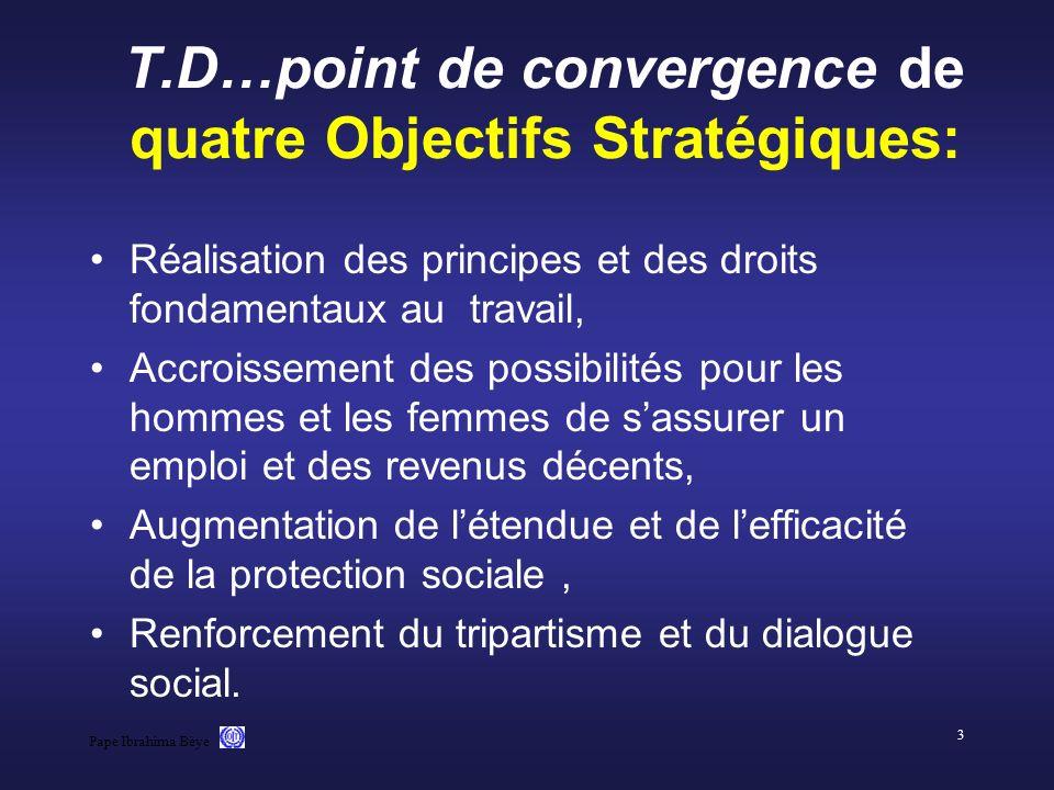 Pape Ibrahima Bèye 3 T.D…point de convergence de quatre Objectifs Stratégiques: Réalisation des principes et des droits fondamentaux au travail, Accro