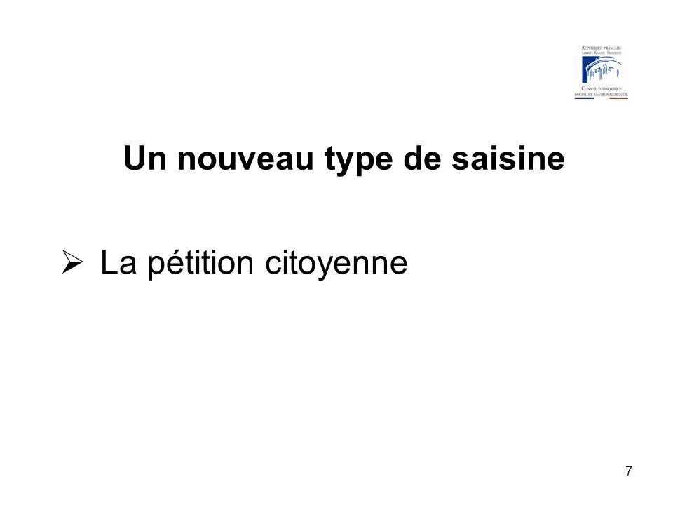 18 La pétition citoyenne Au moins 500 000 signataires Le bureau statue sur la recevabilité des pétitions Lavis sur la pétition est publié au Journal officiel dans un délai maximal dun an