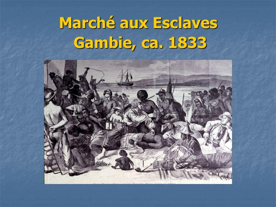Marché aux Esclaves Gambie, ca. 1833