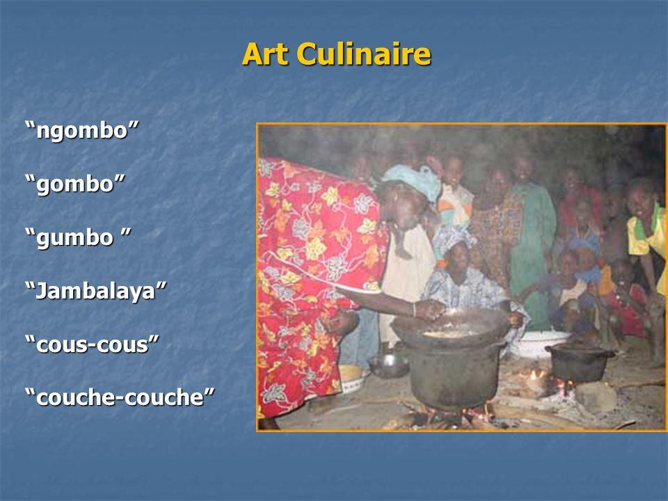 Art Culinaire ngombogombo gumbo gumbo Jambalayacous-couscouche-couche