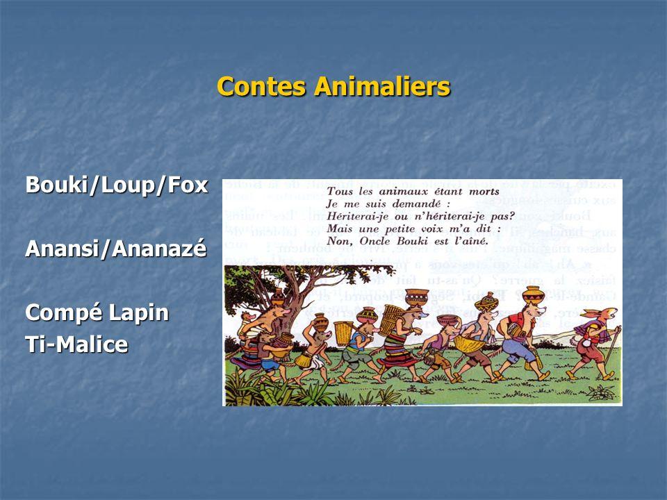 Contes Animaliers Bouki/Loup/FoxAnansi/Ananazé Compé Lapin Ti-Malice