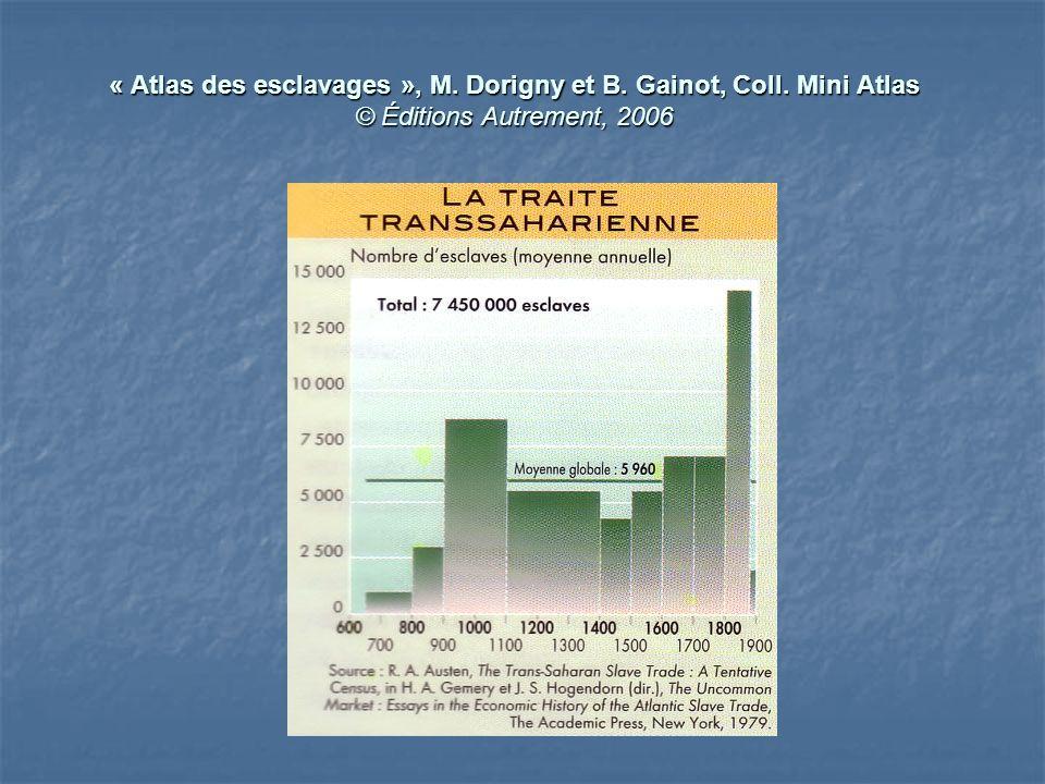 « Atlas des esclavages », M. Dorigny et B. Gainot, Coll. Mini Atlas © Éditions Autrement, 2006