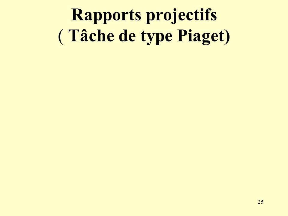 25 Rapports projectifs ( Tâche de type Piaget)