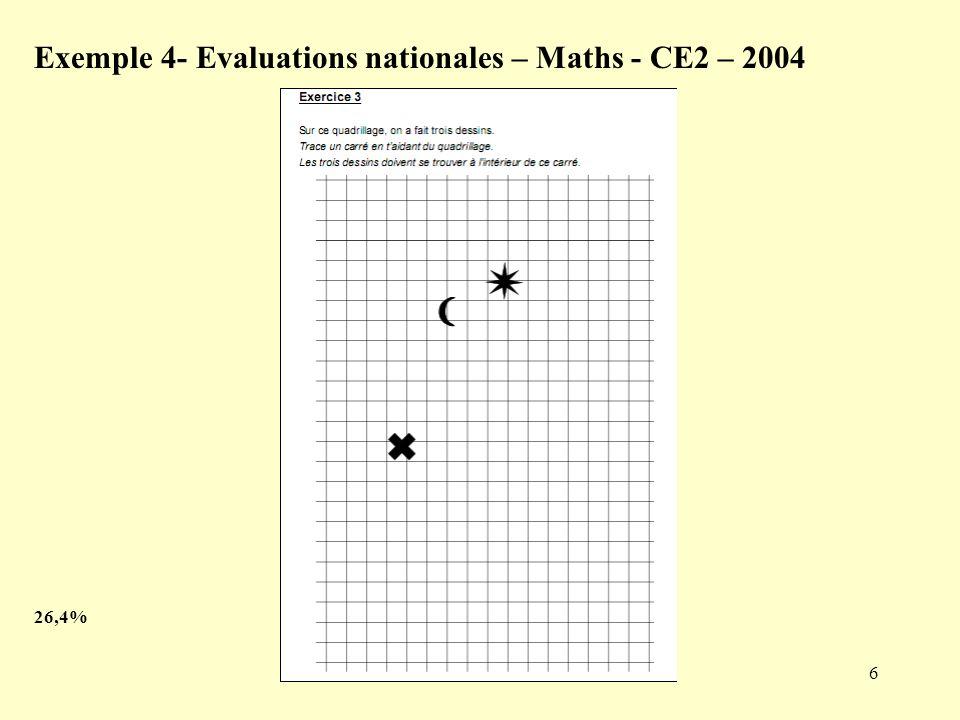 7 Exemple 5 Evaluation CE2 – septembre 2006 – Ex.8 78,35%