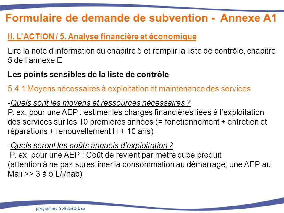 programme Solidarité Eau II.LACTION / 5.