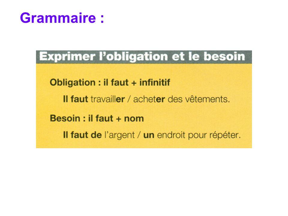 Grammaire :