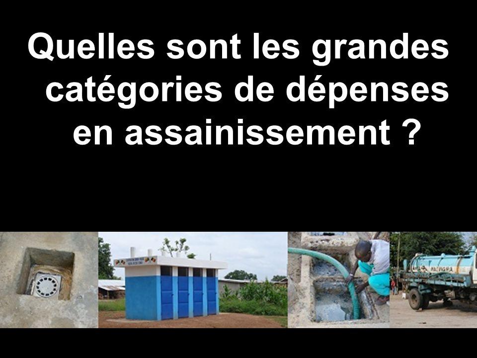 programme Solidarité Eau Quelles sont les grandes catégories de dépenses en assainissement ?