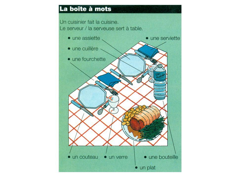 3. Chassez lintrus ! 1. - de la glace - un menu - des gâteaux - des fruits
