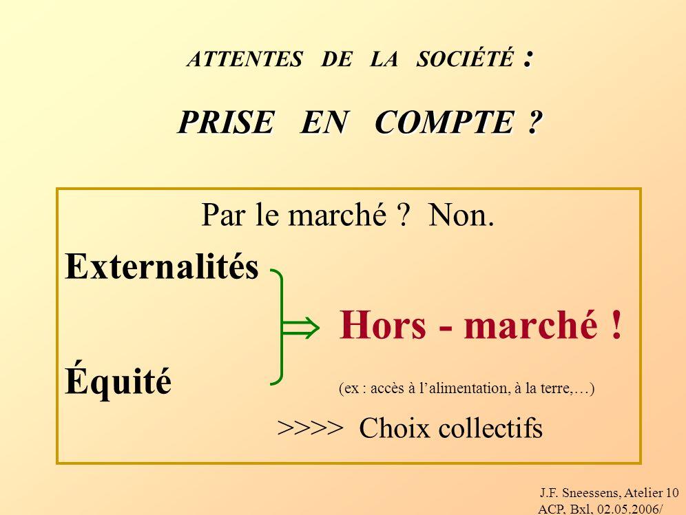 J.F.Sneessens, Atelier ACP, Bxl, 02.05.2006/ 10 : PRISE EN COMPTE .