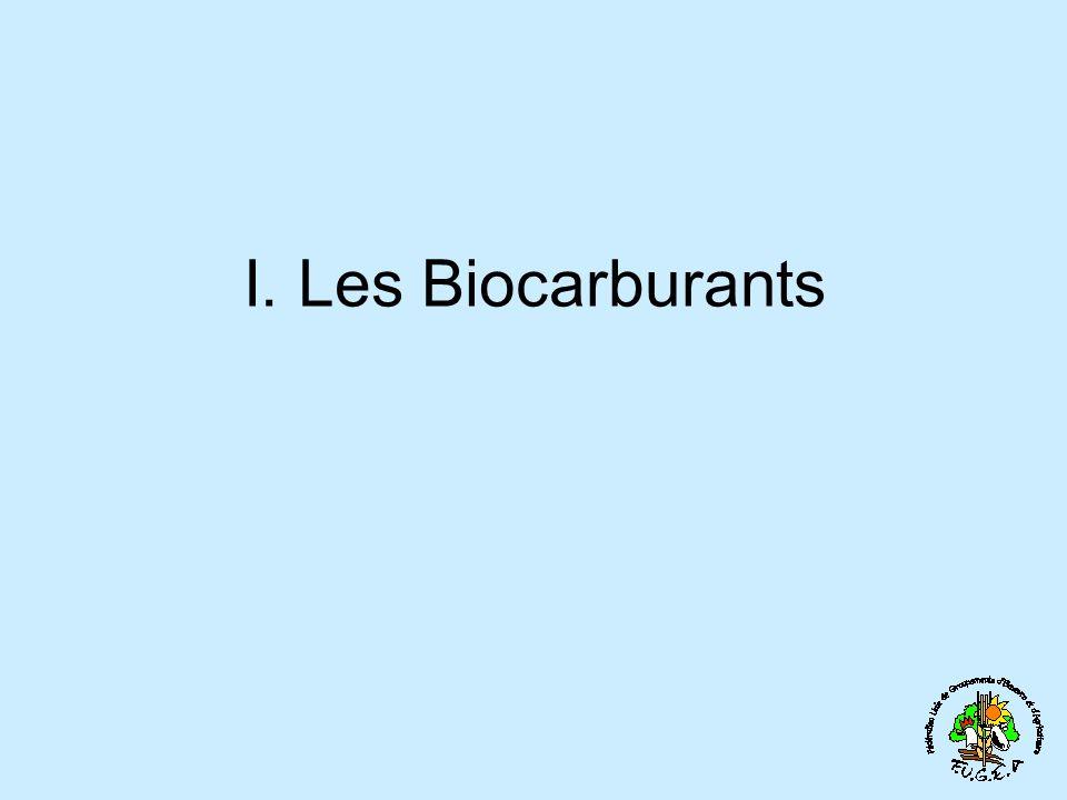 I. Les Biocarburants