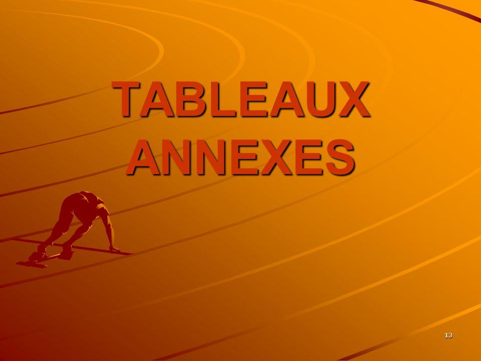 13 TABLEAUX ANNEXES