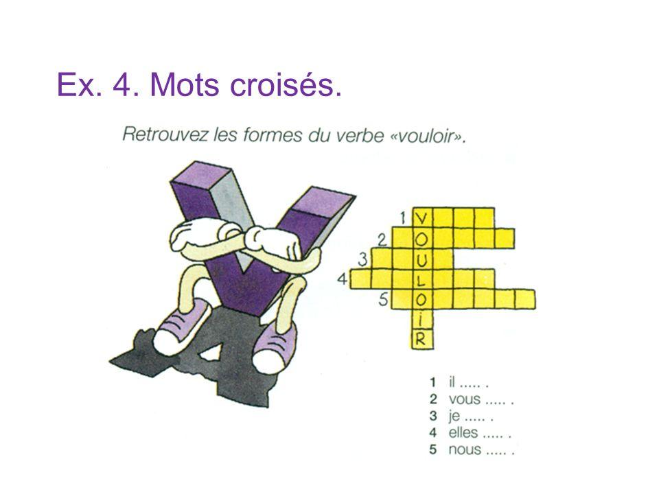 Ex. 4. Mots croisés.