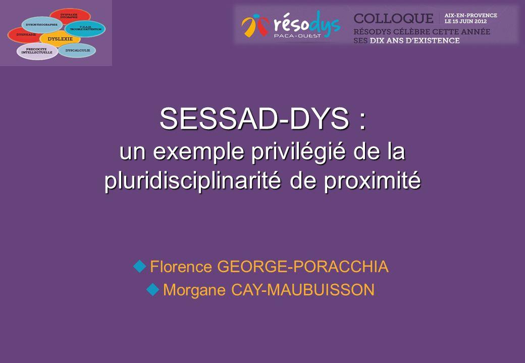 SESSAD-DYS : un exemple privilégié de la pluridisciplinarité de proximité Florence GEORGE-PORACCHIA Morgane CAY-MAUBUISSON