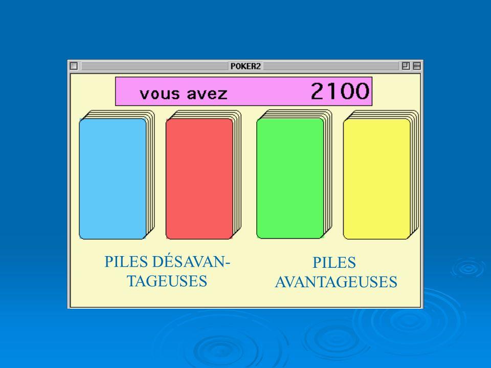 ADAPTATION du TEST DU « JEU DE POKER » (GAMBLING TEST DE BECHARA ET DAMASIO)