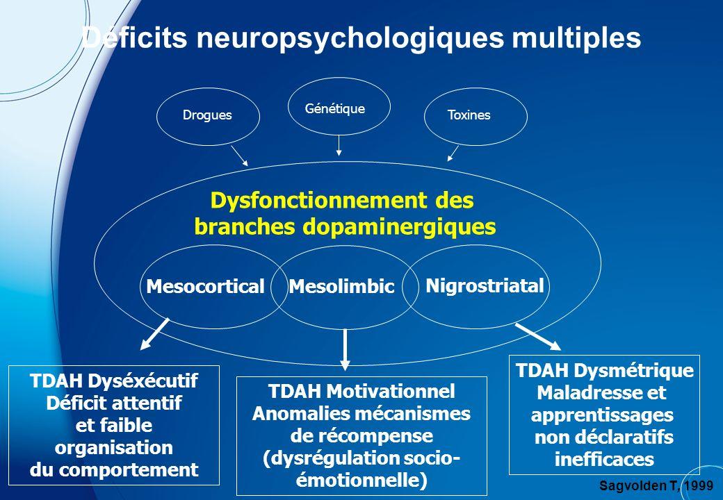 Aire tegmentale ventrale Aire septale Système dopaminergique Voie nigro-striée Voie méso- corticale Voie méso- limbique