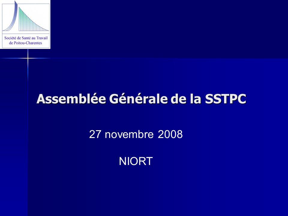 Assemblée Générale de la SSTPC 27 novembre 2008 NIORT