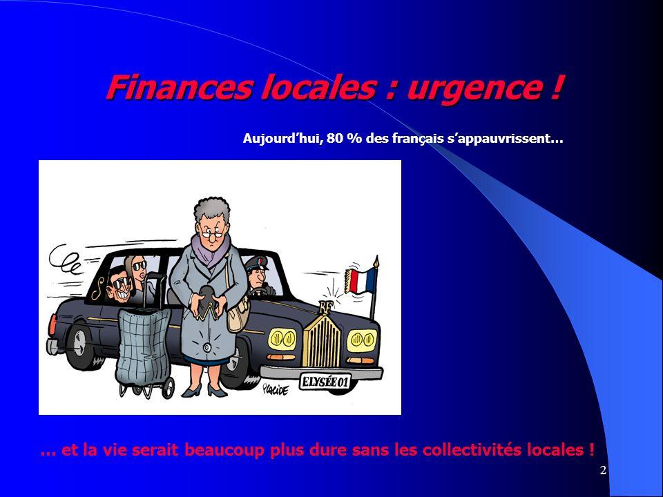 2 Aujourdhui, 80 % des français sappauvrissent… … et la vie serait beaucoup plus dure sans les collectivités locales !