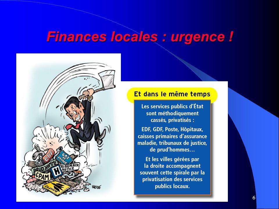 6 Finances locales : urgence !