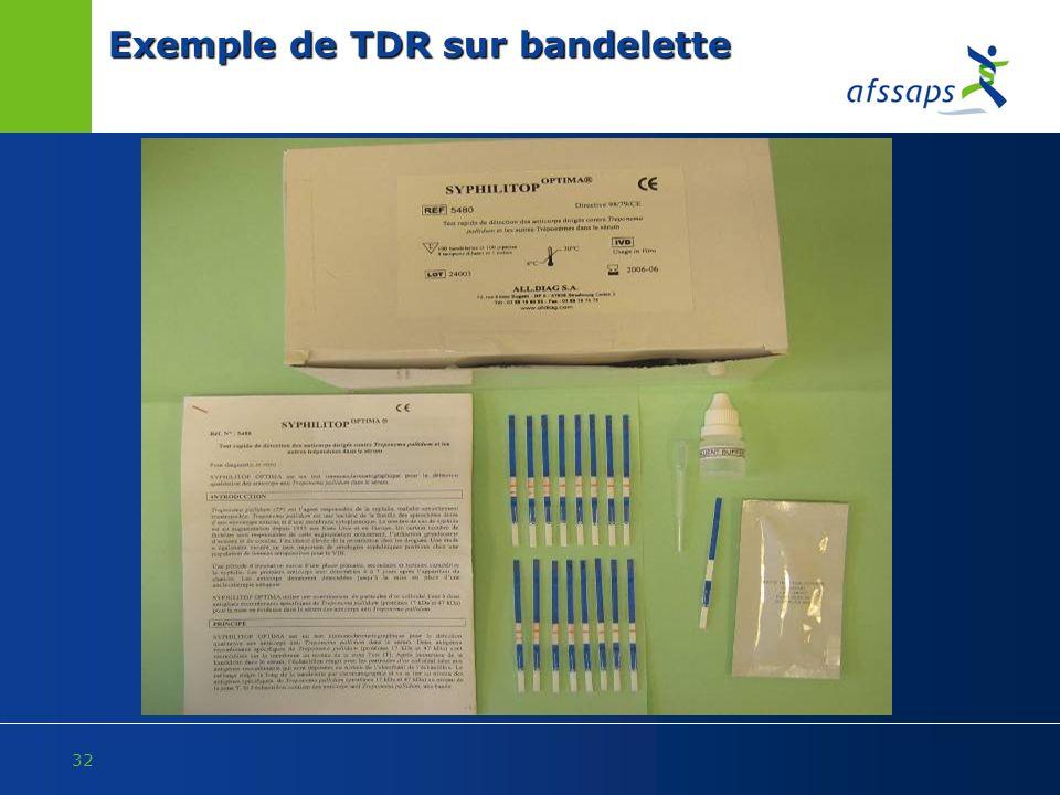 32 Exemple de TDR sur bandelette