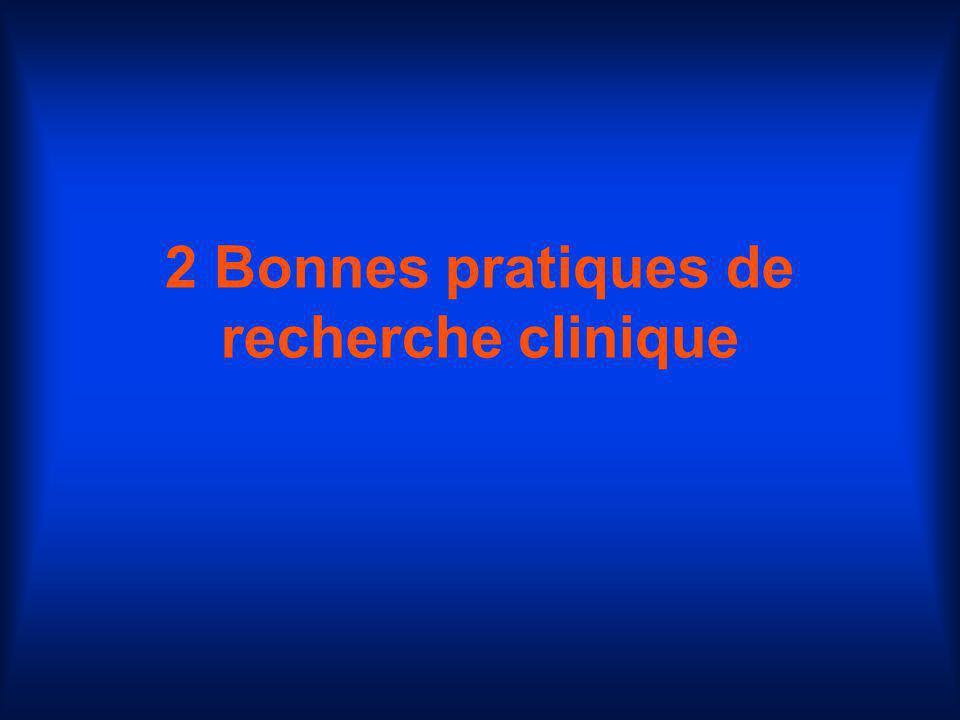 2 Bonnes pratiques de recherche clinique