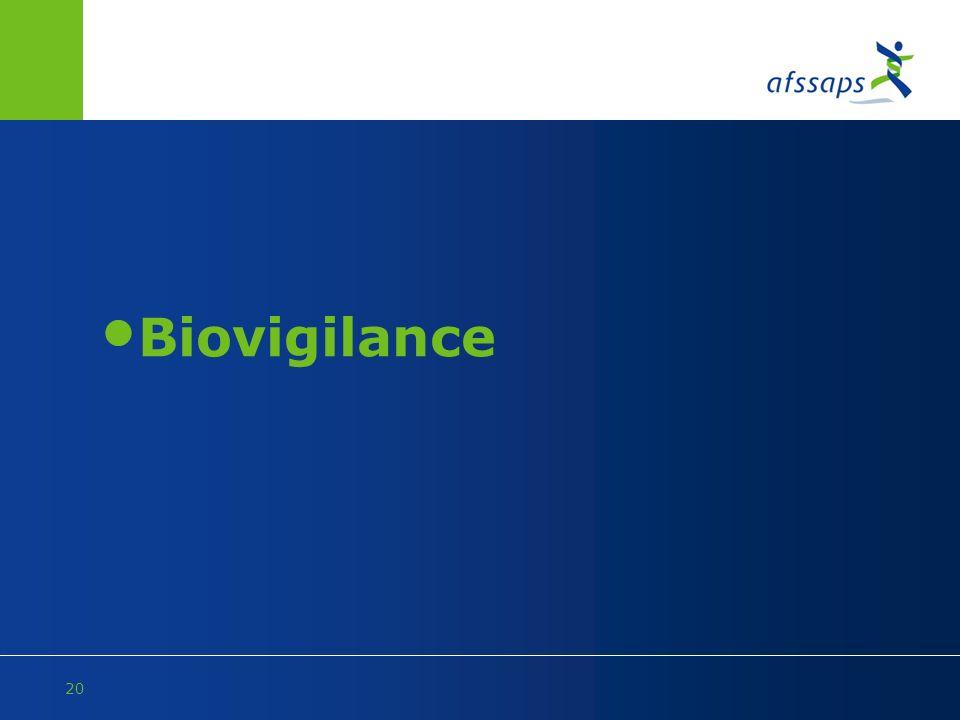 20 Biovigilance