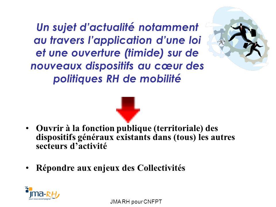 JMA RH pour CNFPT Les outils « Collectifs » : Ateliers de la mobilité… Dispositifs dateliers daccompagnement de projets mobilité.