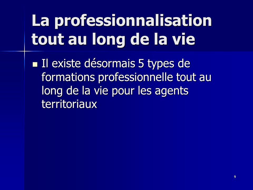 10 La professionnalisation tout au long de la vie 1.