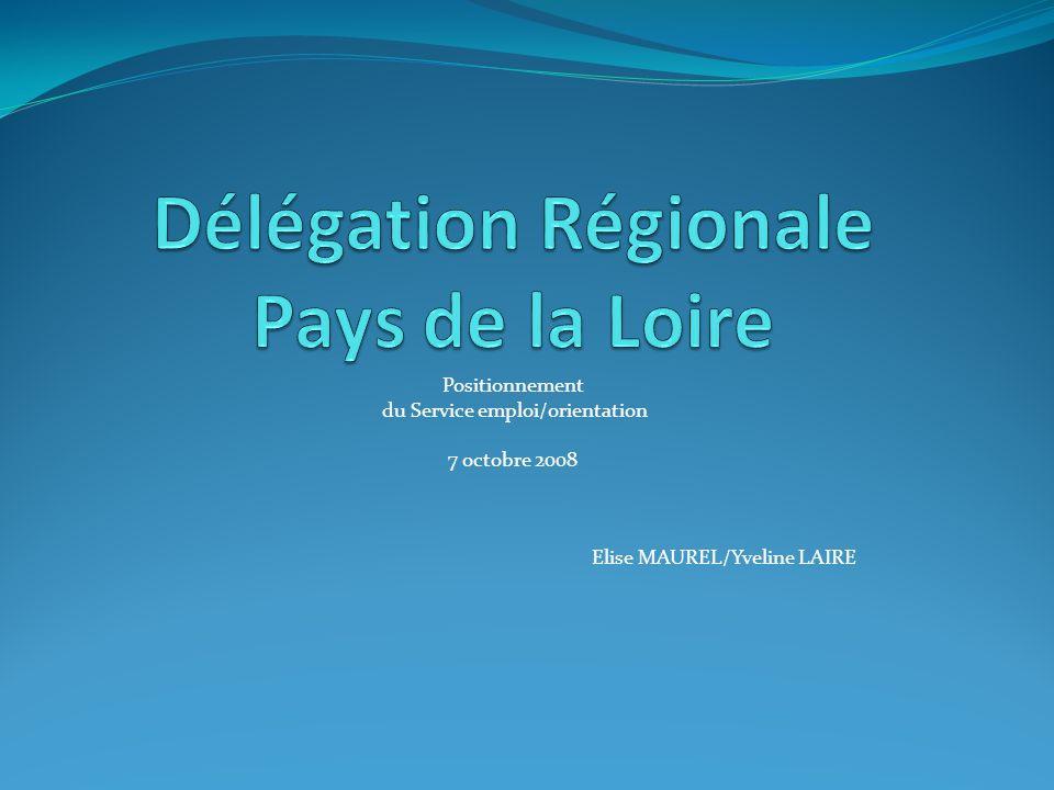 Positionnement du Service emploi/orientation 7 octobre 2008 Elise MAUREL/Yveline LAIRE