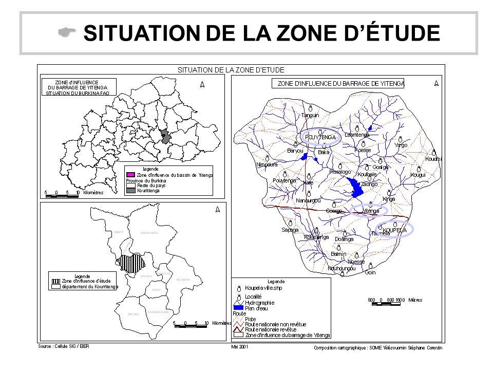 MODE DASSAINISSEMENT PAR LOCALITE Koupéla 0% 21% 6% 7% 66% Latrine améliorée Nature Non précisé WC moderne Latrine à fond perdu Pouytenga 1% 24% 31% 39% 5% Villages 67% 33% zone d étude 49% 21% 25% 5%