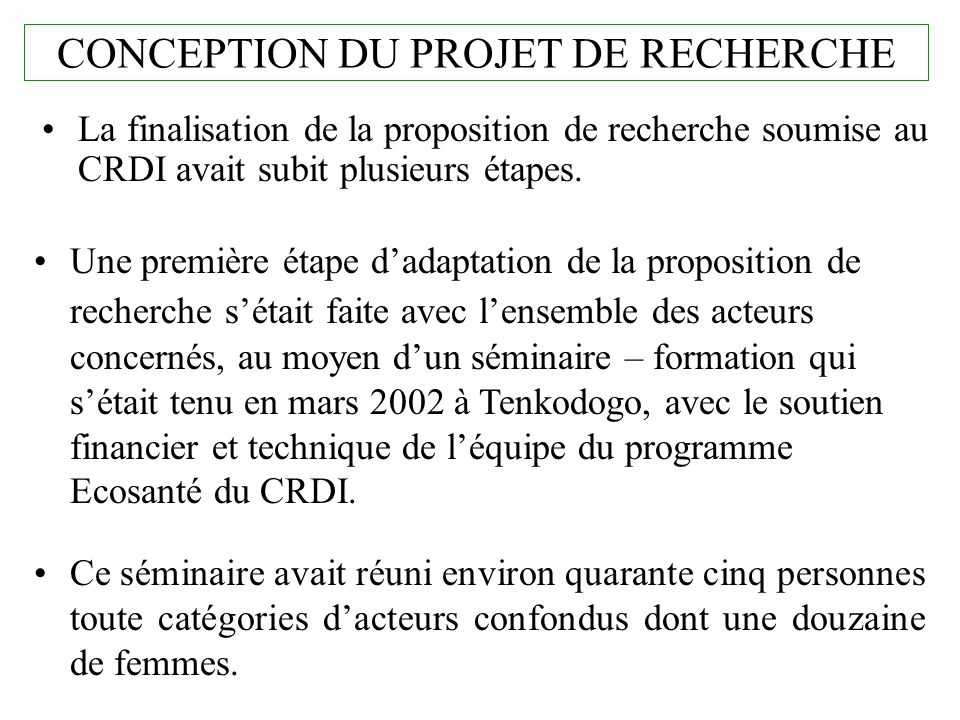 AXE DE RECHERCHE / ACTIONS A MENER / ACTIONS REALISEES 3.