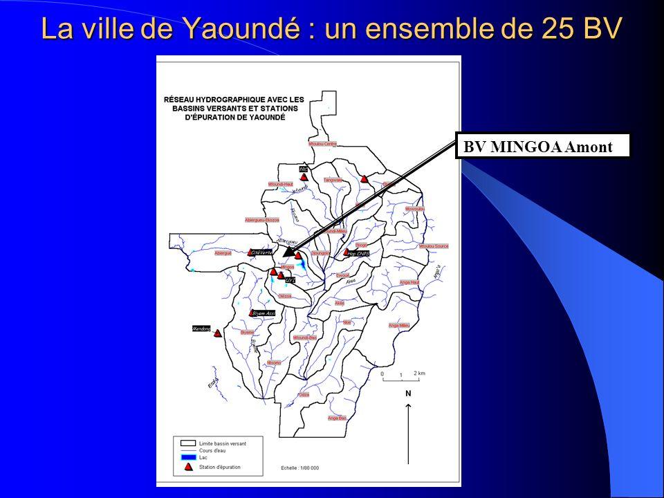 La ville de Yaoundé : un ensemble de 25 BV BV MINGOA Amont