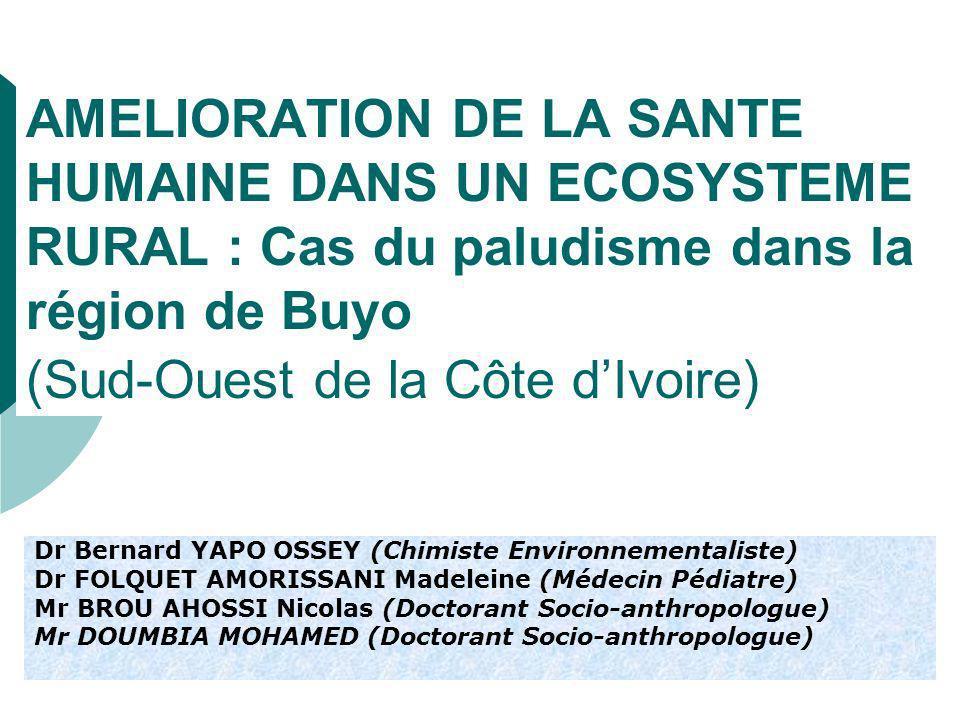 I- ETAT DES LIEUX (1) Superficie denviron 11000 km 2 132 000 Habitants (RGPH, 1998) Importante transformation de la région de Buyo à partir de 1968 Ecosystème originel forestier devenu depuis la mise en eau du barrage, une zone agricole avec un développement économique sans précédent.