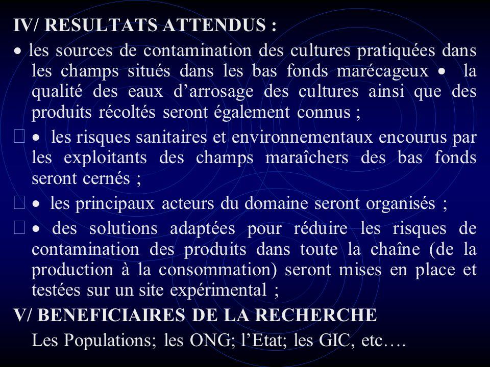 CONCLUSION Ce travail de recherche permettra de poser les bases de la valorisation de l agriculture urbaine maraîchère dans la ville de Yaoundé.