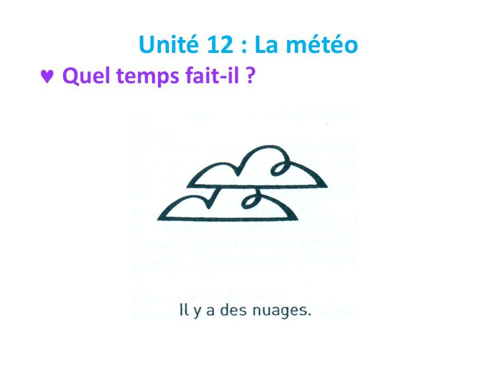 Unité 12 : La météo Quel temps fait-il ?