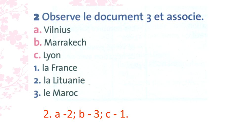 4. a. faux (elle apprend le français) ; b. vrai ; c. vrai; d. vrai.