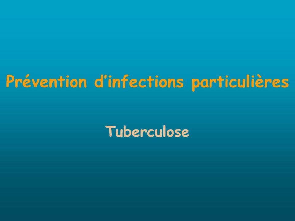 Prévention dinfections particulières Tuberculose