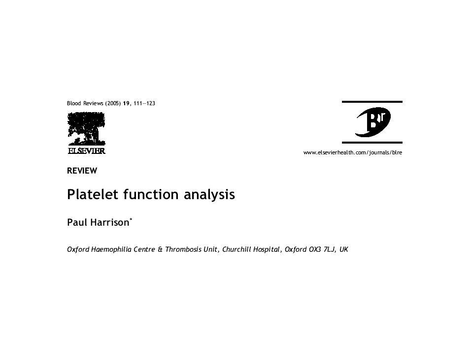 Fonctions plaquettaires in vitro : Tests d agrégation Cytométrie en flux