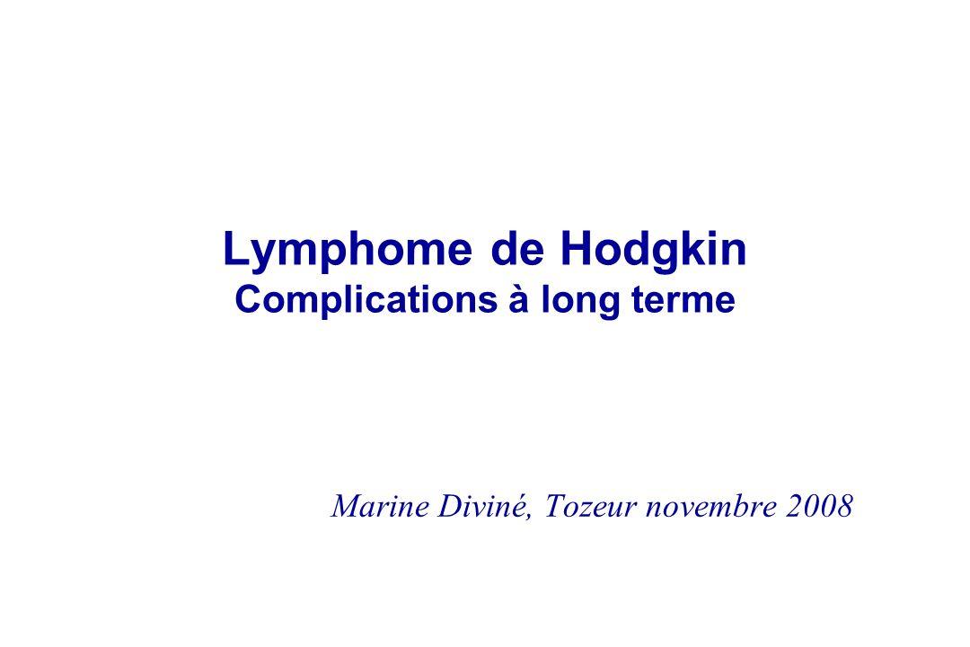 Lymphome de Hodgkin Complications à long terme Marine Diviné, Tozeur novembre 2008