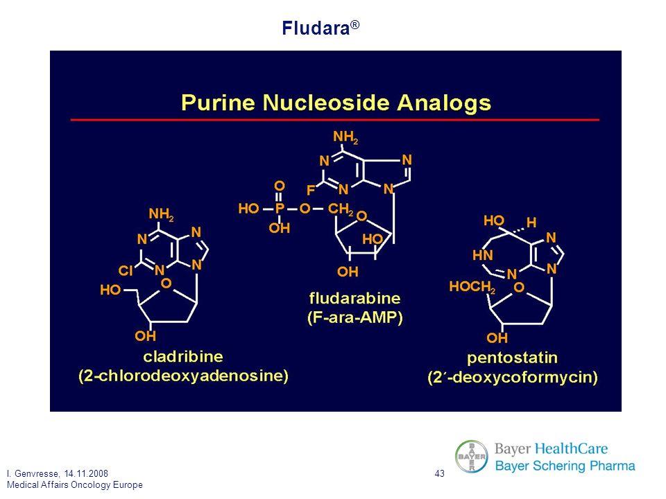 I. Genvresse, 14.11.2008 Medical Affairs Oncology Europe 43 Fludara ®