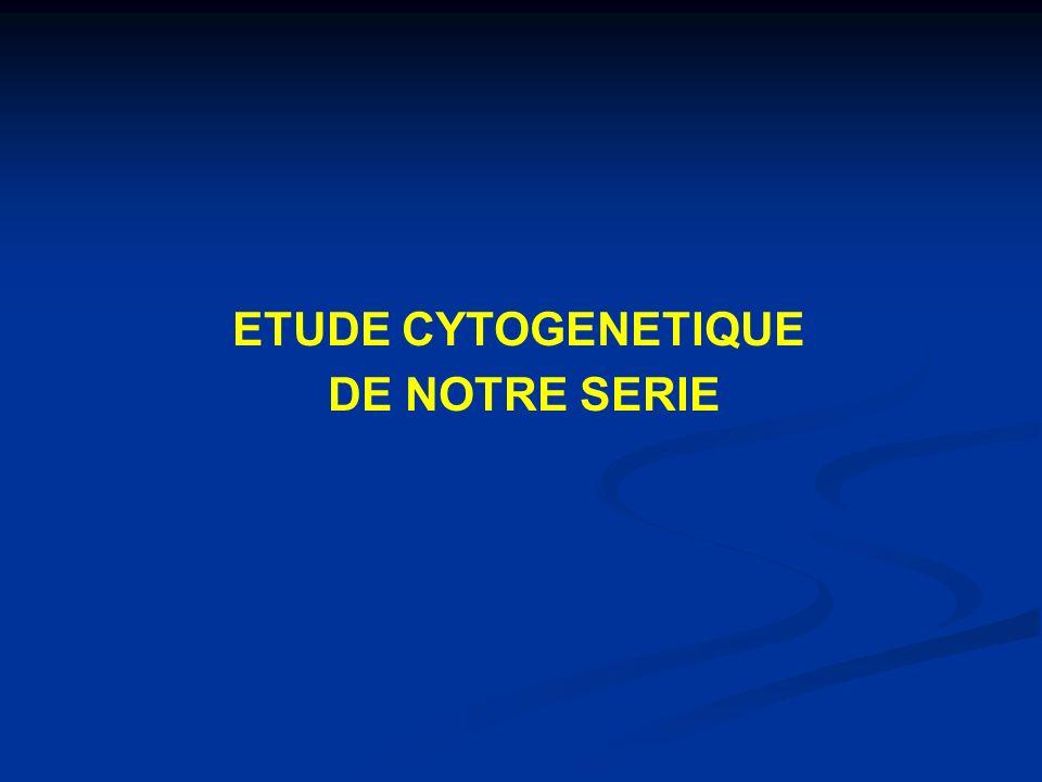 ETUDE CYTOGENETIQUE DE NOTRE SERIE